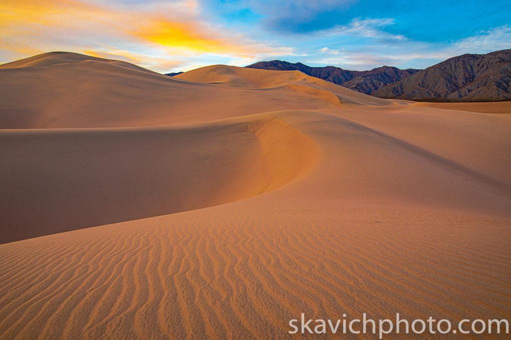 photography print sunset Panamint Dunes death valley national park, fine art print sunset sand dunes death valley