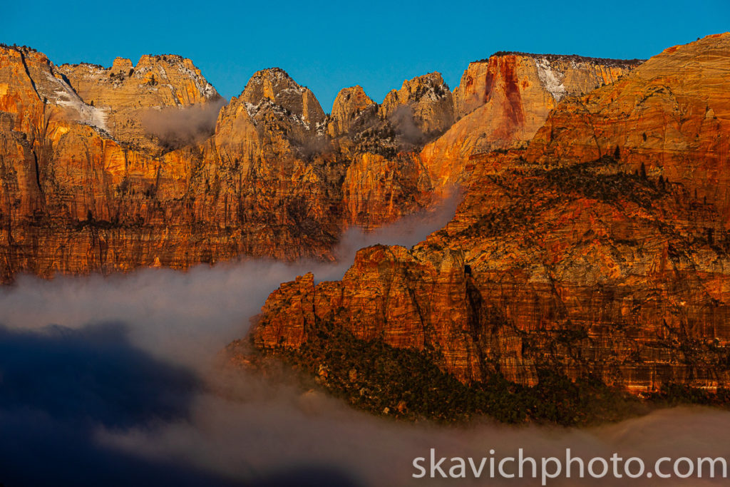 sunrise photography print zion national park