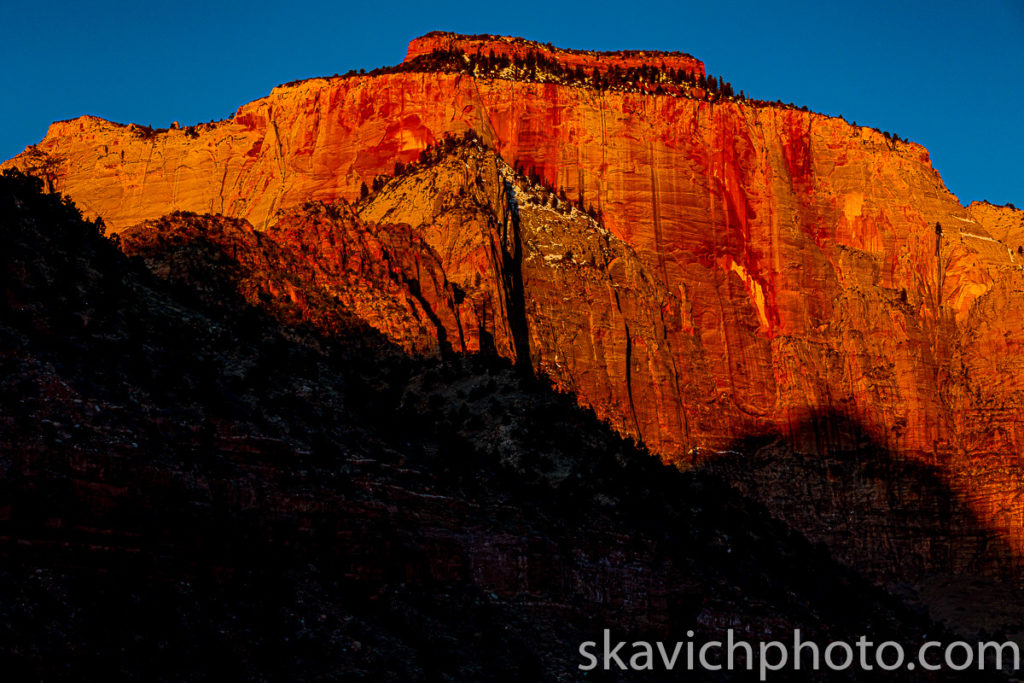 sunrise towers of the virgin zion national park