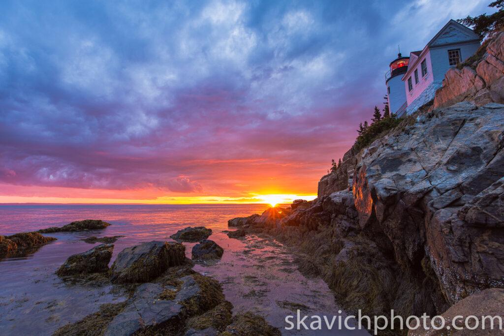 fine art photography print bass harbor lighthouse Acadia national park Maine