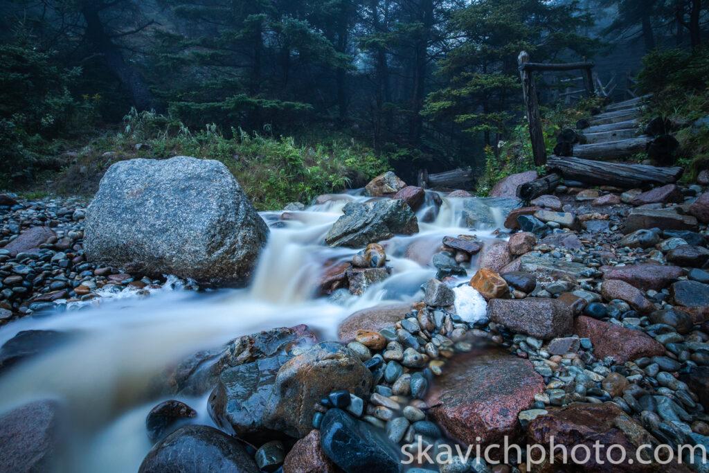 fine art photography print waterfall Acadia national park Maine