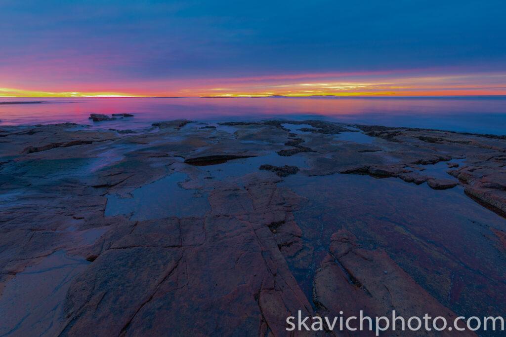sunrise photography Acadia national park Maine